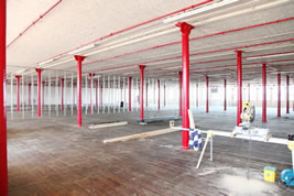 Converting the interior of offices in Stockport by KJB Builders