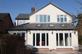 An extension to the rear in Macclesfield by KJB Builders