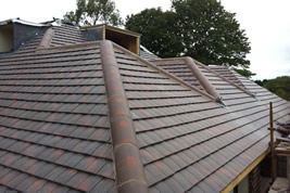 A roofing structure on an extension in Adlington by KJB Builders